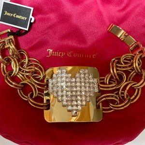 JUICY COUTURE HEART STATON & CHAIN BRACELET NWT